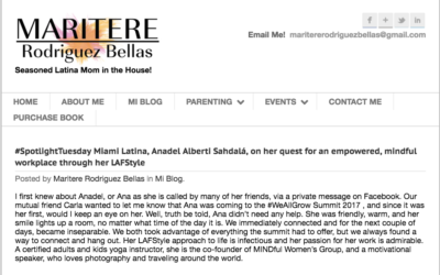#SpotlightTuesday Miami Latina, Anadel Alberti Sahdalá, on her quest for an empowered, mindful workplace through her LAFStyle